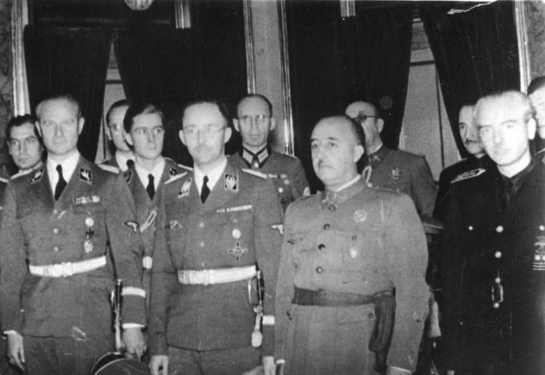Spanien, Heinrich Himmler bei Franco - Allgemeiner Deutscher Nachrichtendienst - Zentralbild (Bild 183)